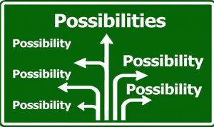 Endless possibilities exist, so make a new choice....