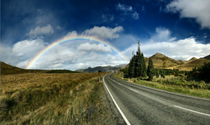 When you trust life, you can find the gold at the end of the rainbow